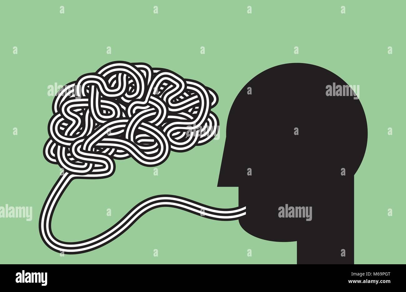 literally: speak your mind - Stock Vector