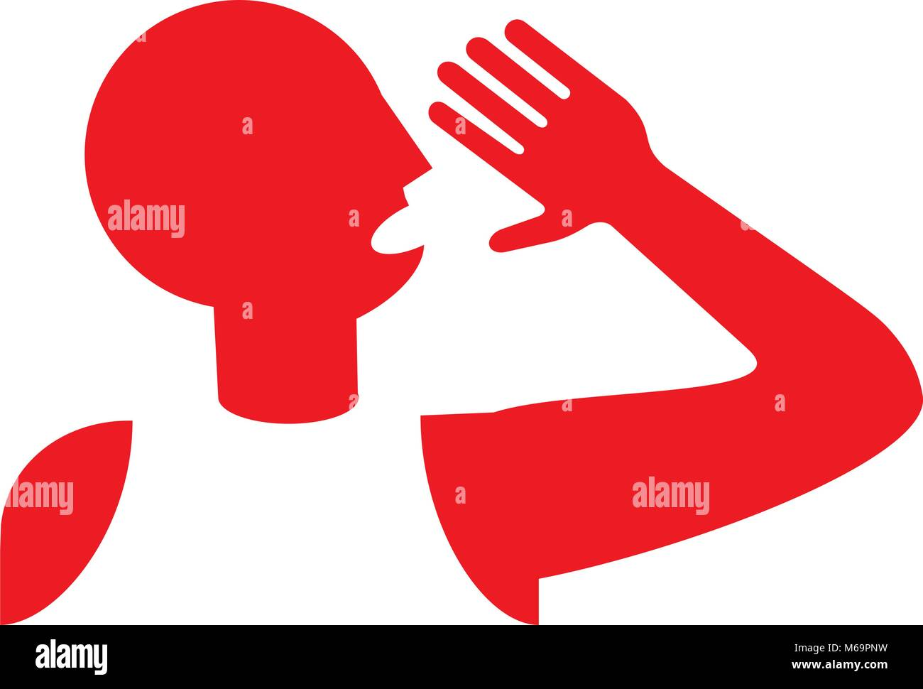 announcement : man shouting  loudly - Stock Vector