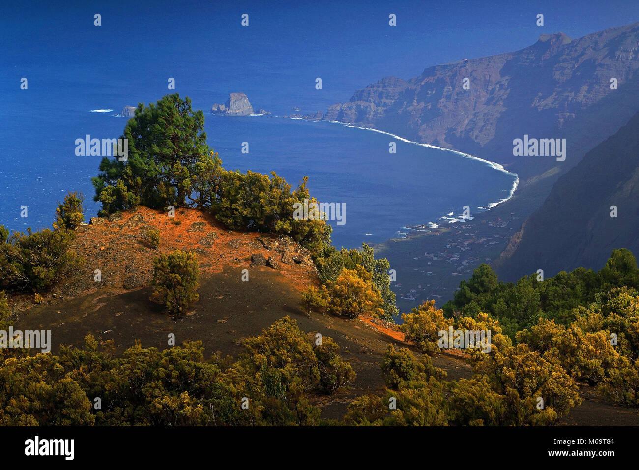Canary Islands, Blick auf El Hierro, - Stock Image