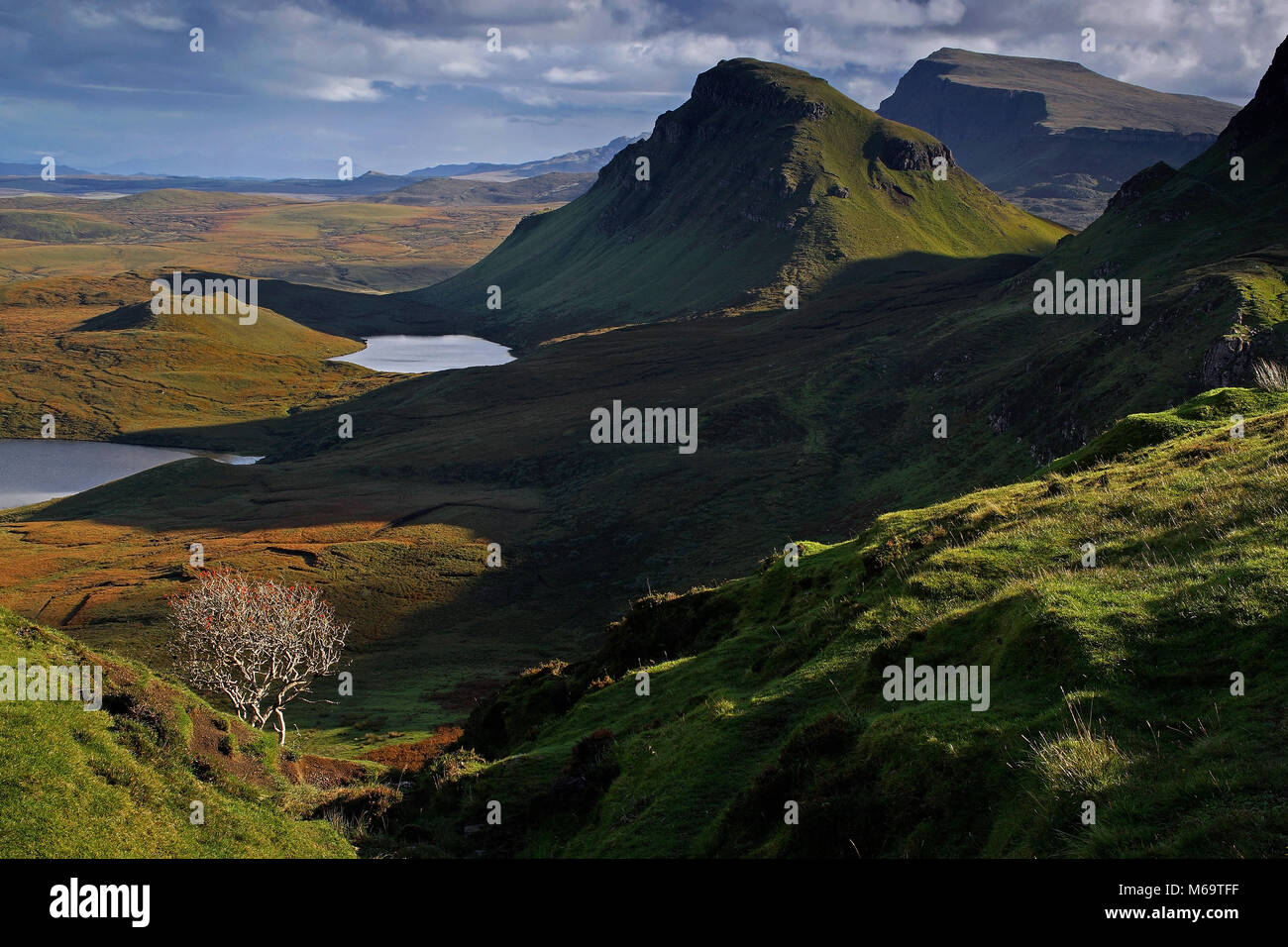 Scotland, Grossbritannien, Europa, Isle of Skye, The Quiraing, - Stock Image
