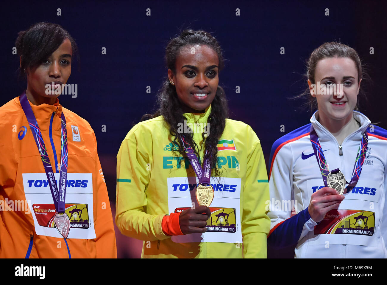 Birmingham, UK. 1st March, 2018. during IAAF World Indoor Championships at Arena Birmingham on Thursday, 01 March - Stock Image