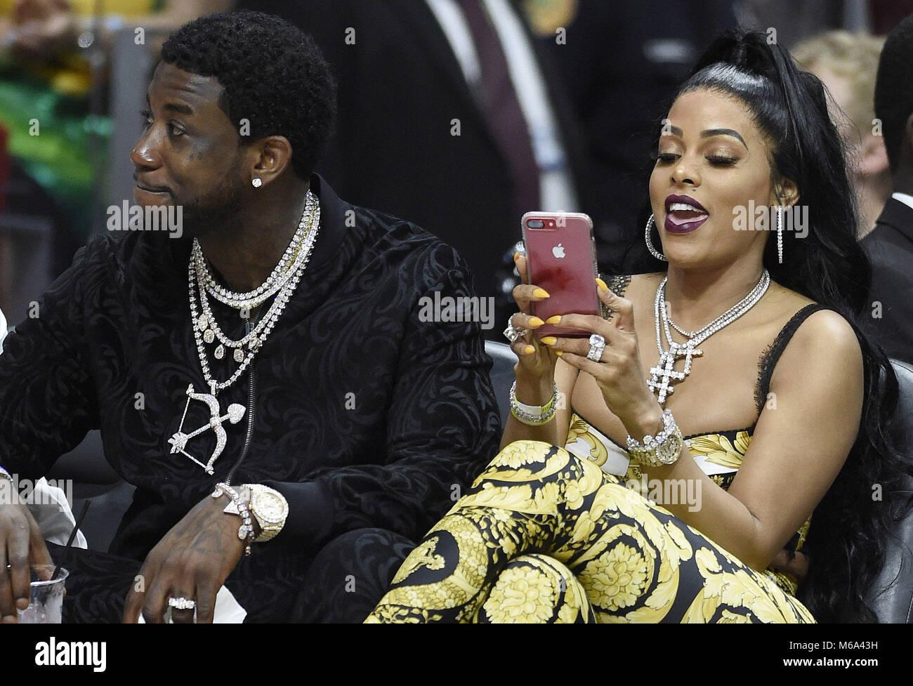 Miami, FL, USA. 01st Mar, 2018. Rapper Gucci Mane and his