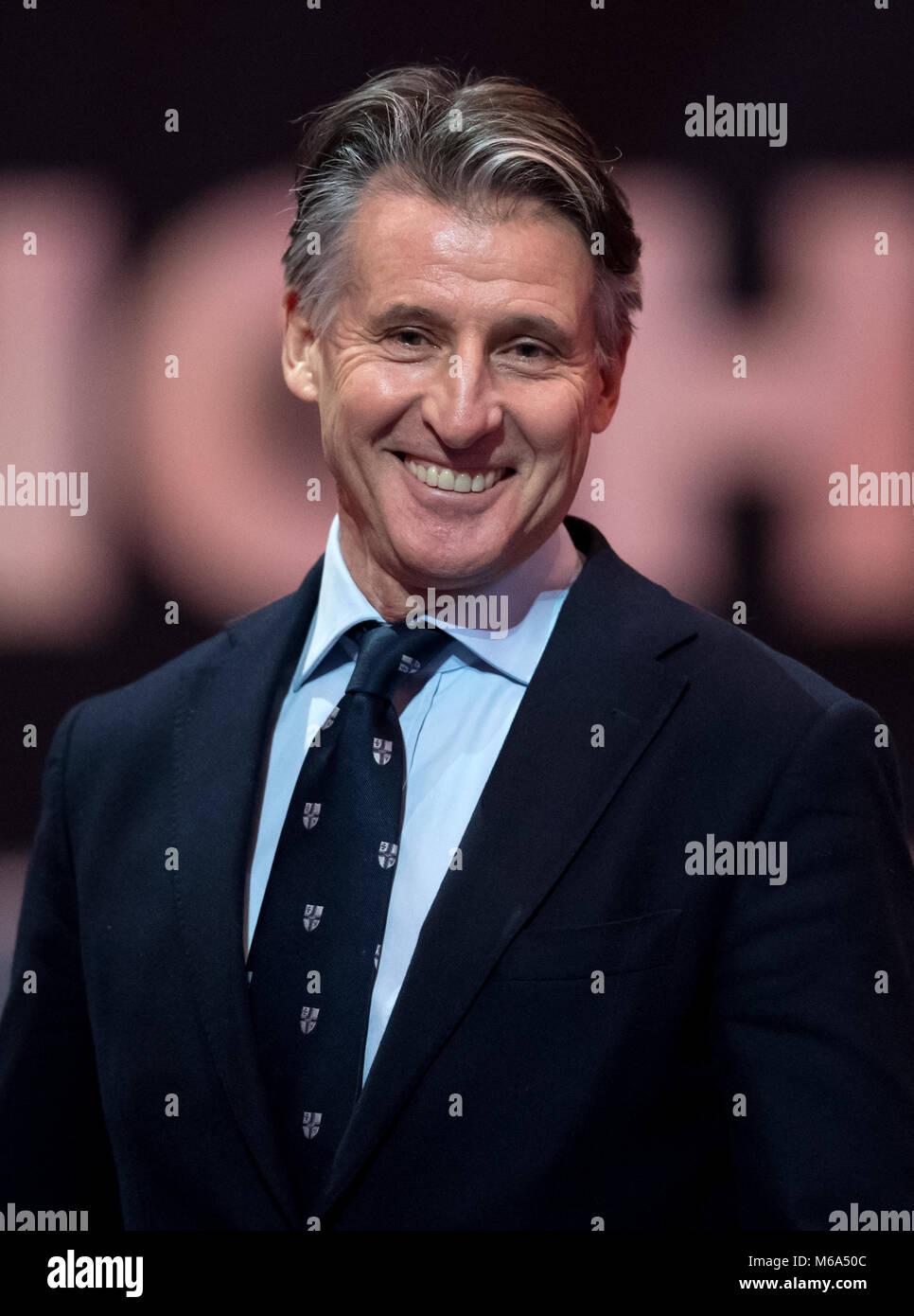 01 May 2018, Great Britain, Birmingham: IAAF World Indoor Championships in Athletics: Sebastian Coe, President of - Stock Image