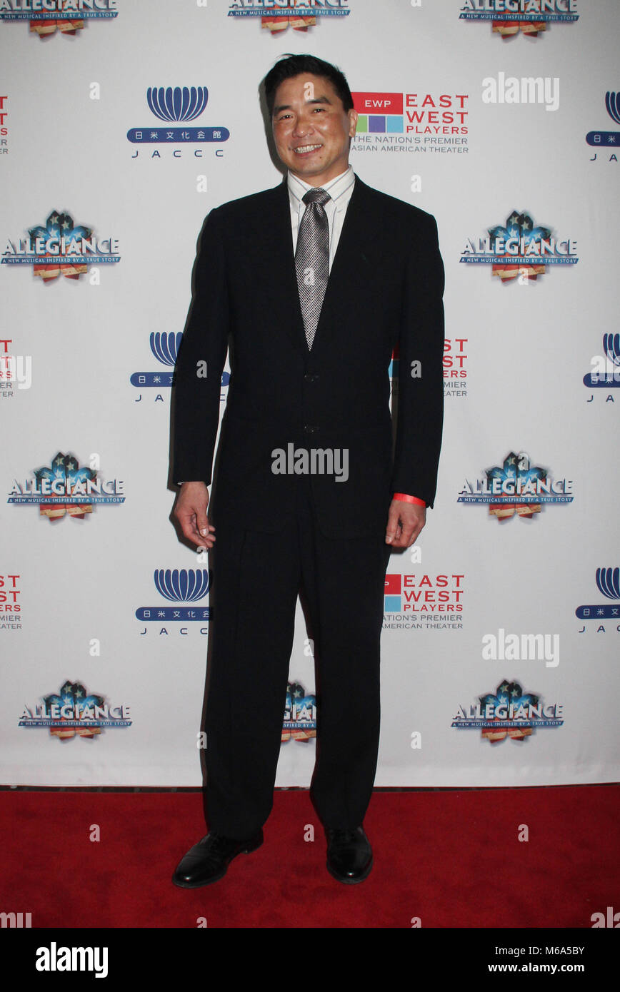 Greg Watanabe  02/28/2018 The Los Angeles premiere of the Broadway musical 'Allegiance' After Party held - Stock Image