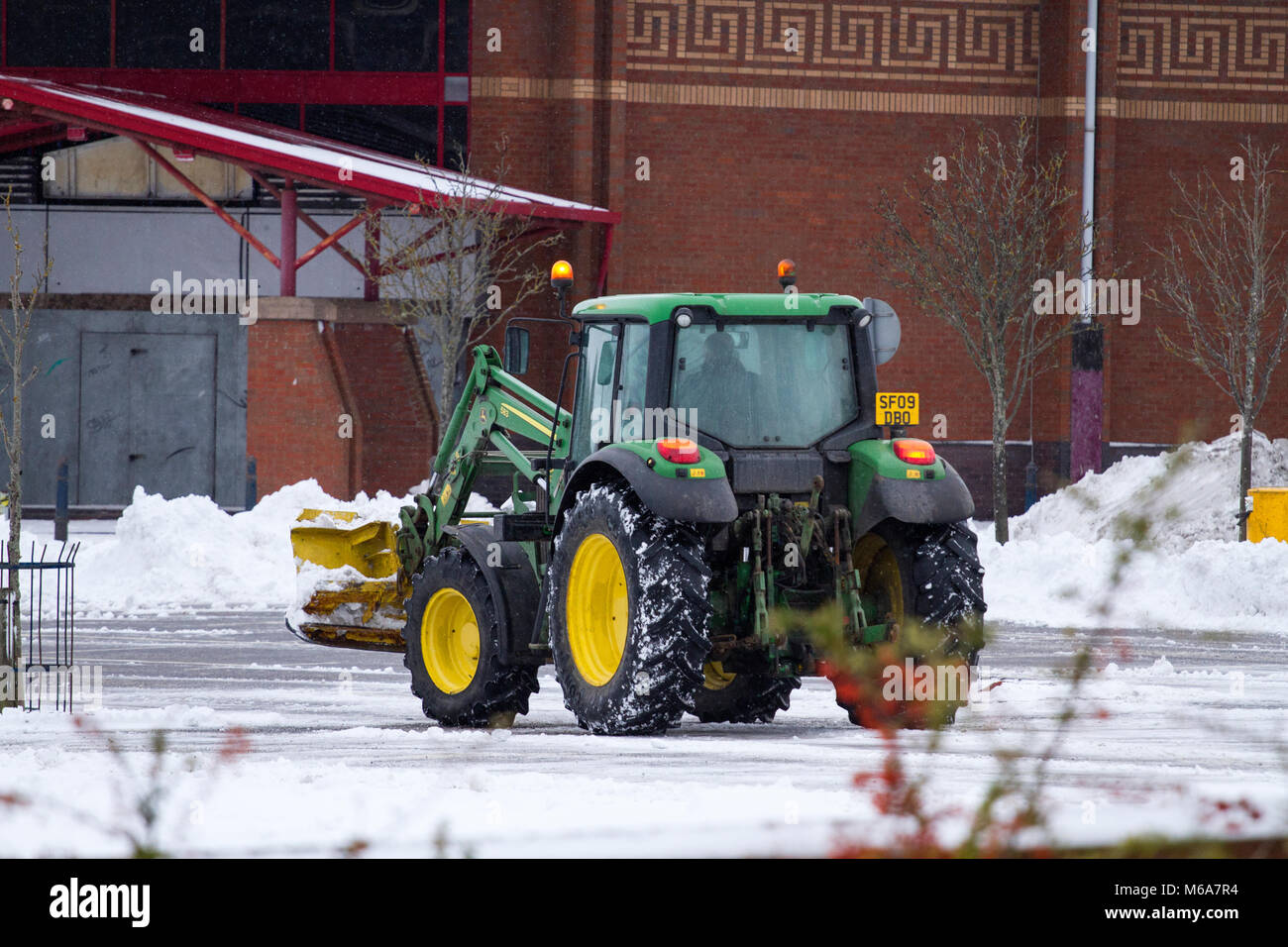 Dundee, Scotland, UK. 2nd March, 2018. UK Weather. The Siberian Beast from the East continues to cause disruption - Stock Image