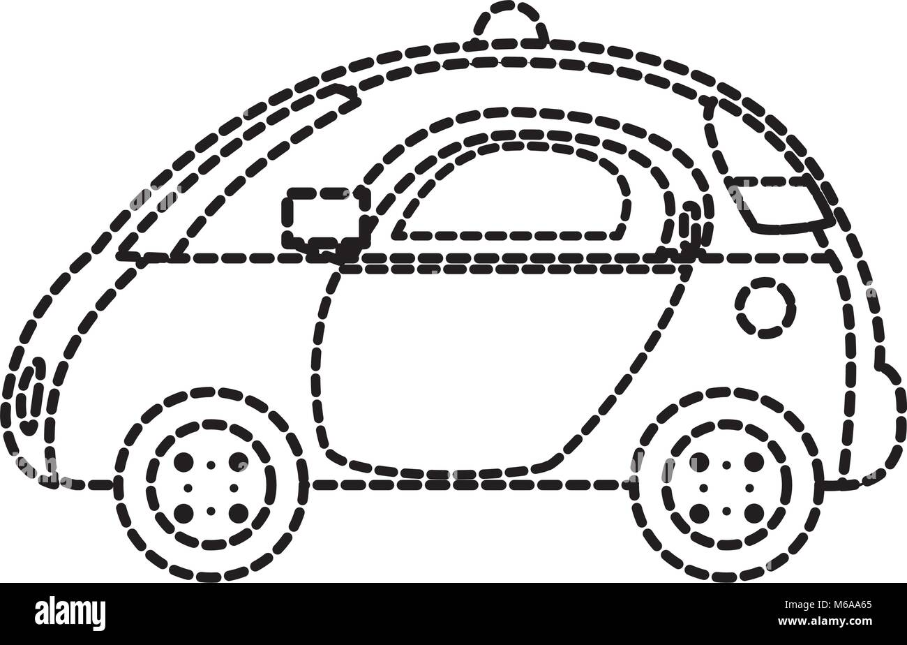 dotted shape emergency police car security with siren stock vector Basic Security System Diagram dotted shape emergency police car security with siren