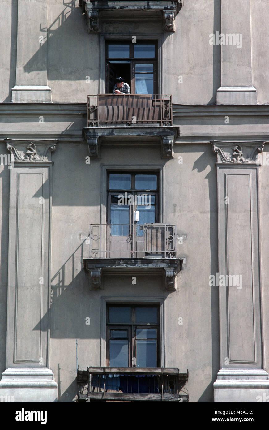 moscow apartment block balconies russia stock photo 176021085 alamy rh alamy com