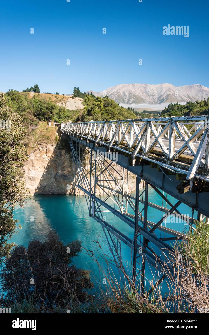 Rakaia River, Canterbury Plains, South Island, New Zealand Stock Photo