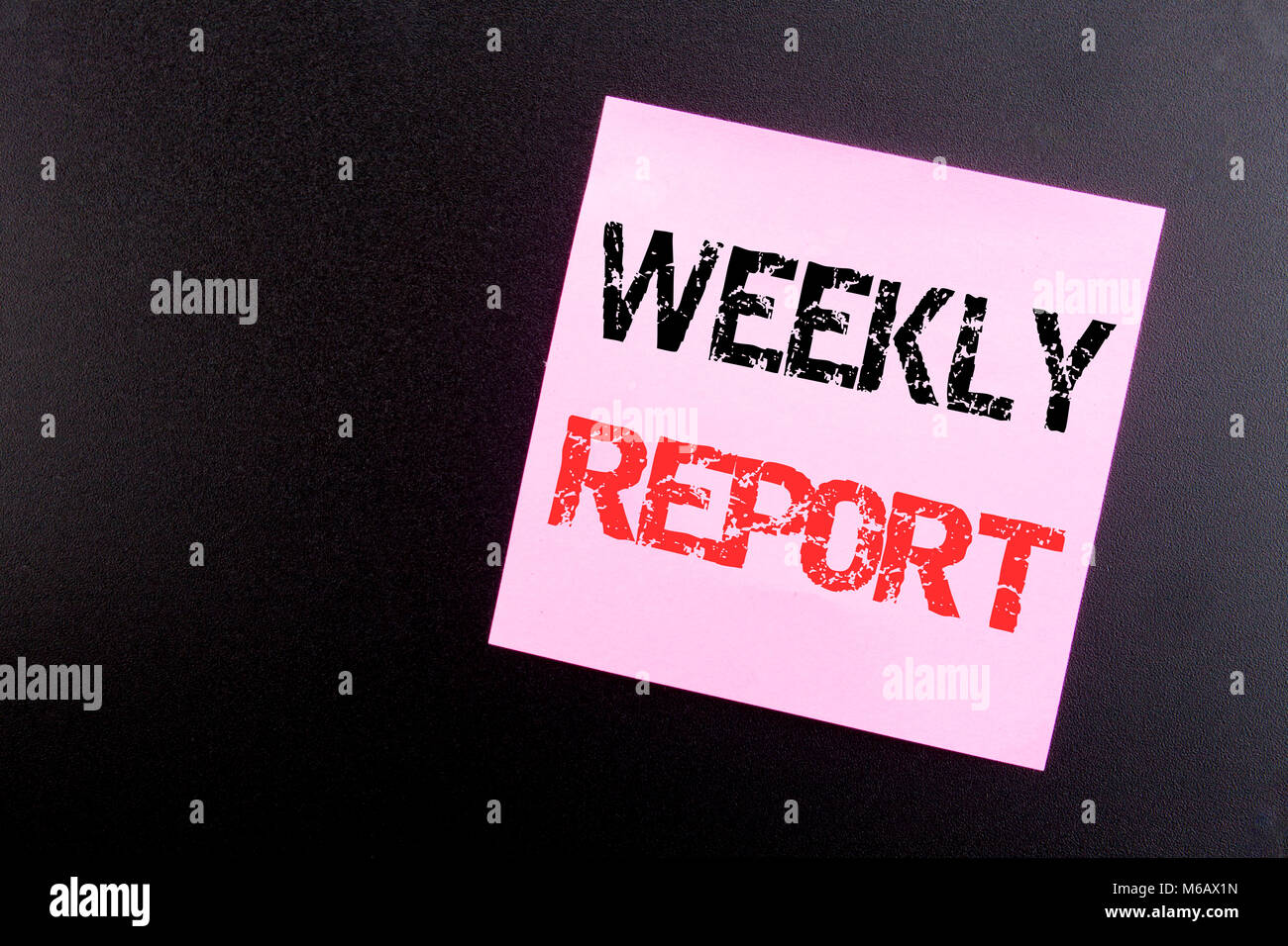 Word, writing Weekly Report. Business concept for Analyzing Stock ...