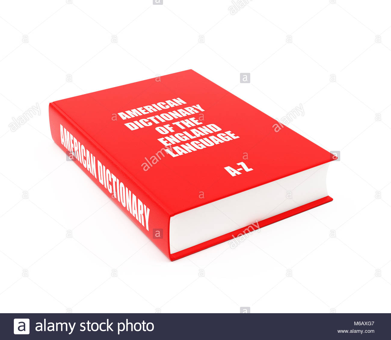 Dictionary On White - Stock Image