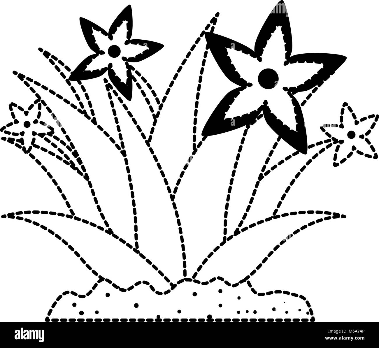 garden flower cultivated icon - Stock Image