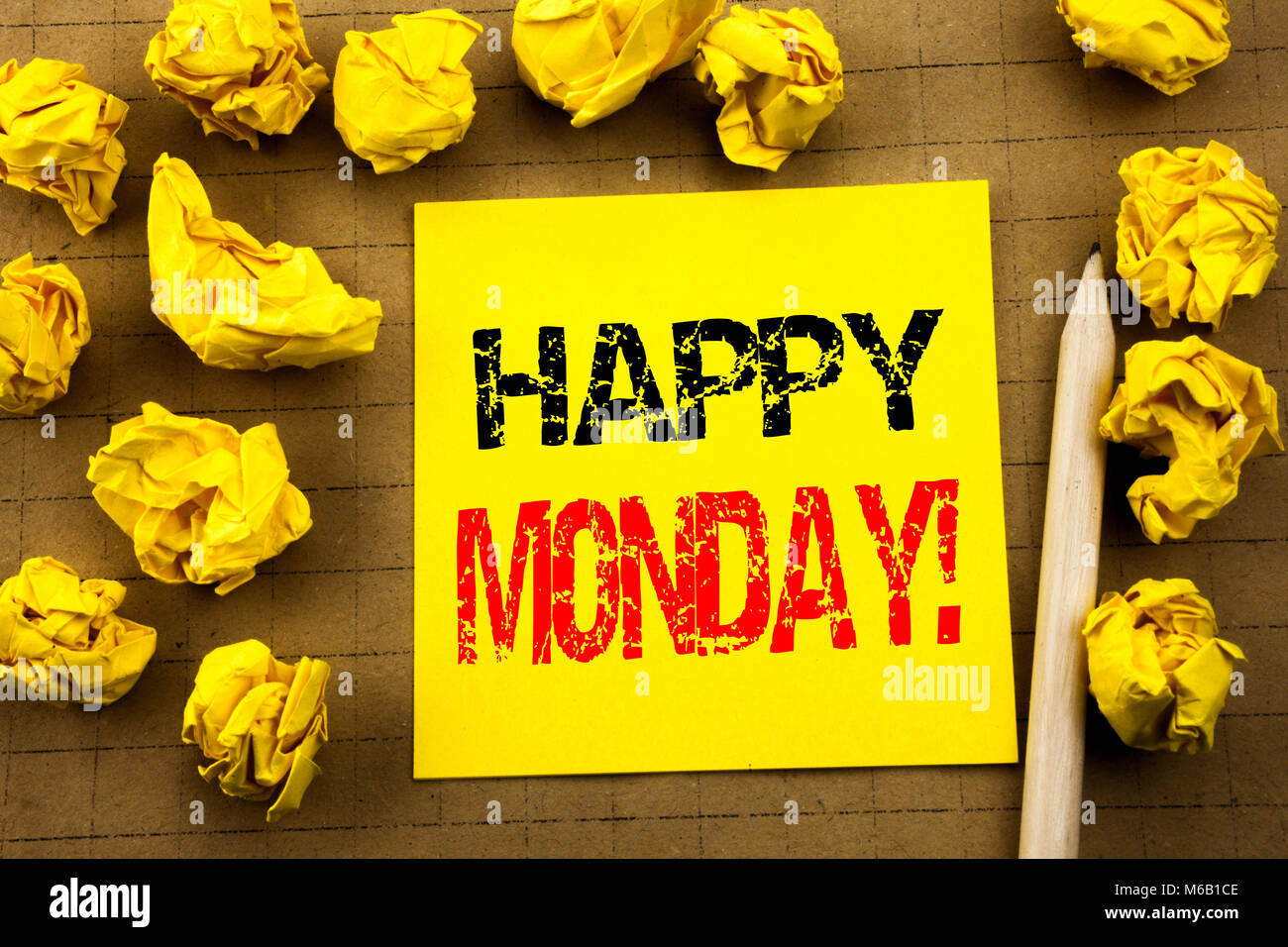 Handwriting Text Showing Happy Monday Business Concept For New