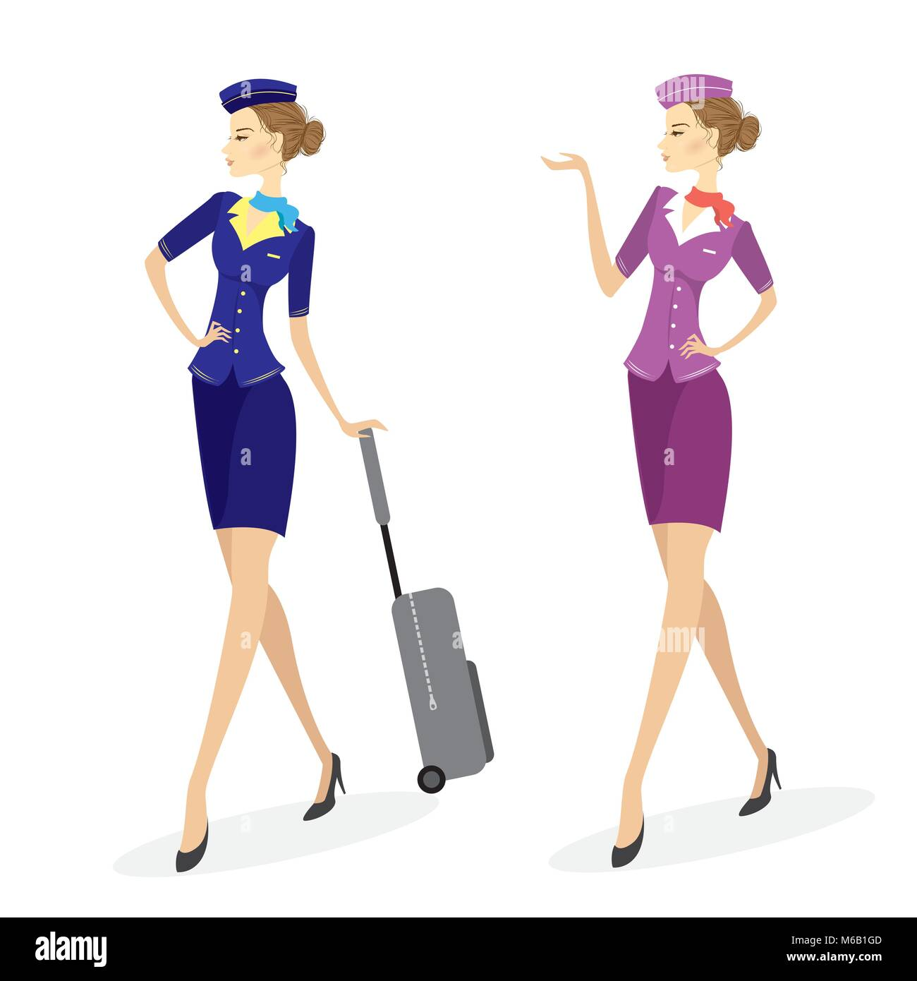 Air Hostess Stewardess Icon Illustration Stock Photos Air Hostess