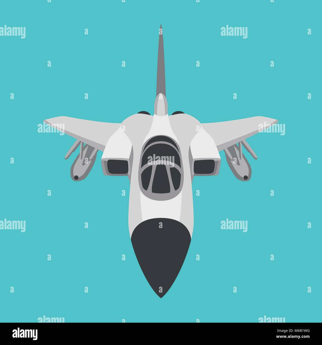 aero pursuit-plane vector illustration flat style front side - Stock Vector
