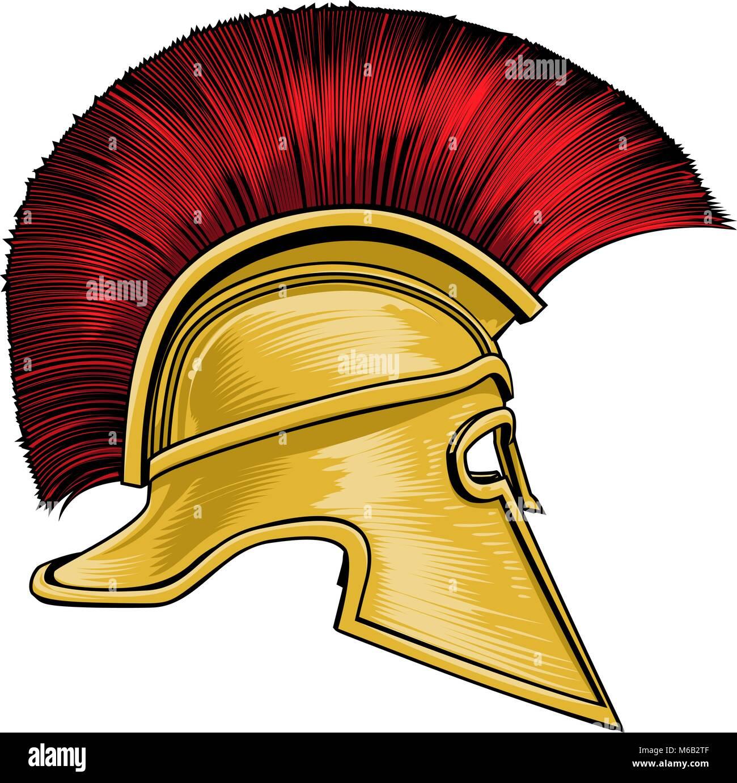 1ee48241cb6 Spartan Ancient Greek Gladiator Warrior Helmet Stock Vector Art ...