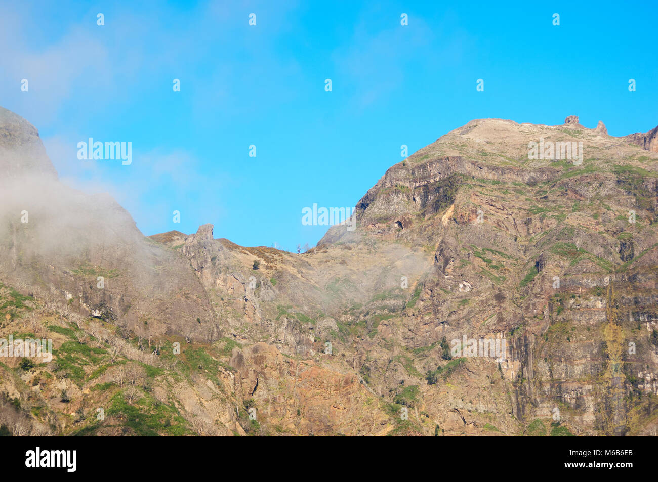 View of the high mountainous interior of central Madeira, Portugal - John Gollop - Stock Image