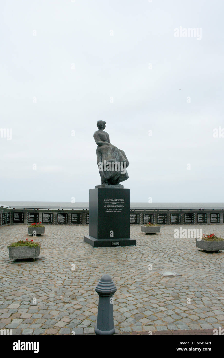 Netherlands,Flevoland,Urk,june 2017: monument for the missing or dead fishermen - Stock Image