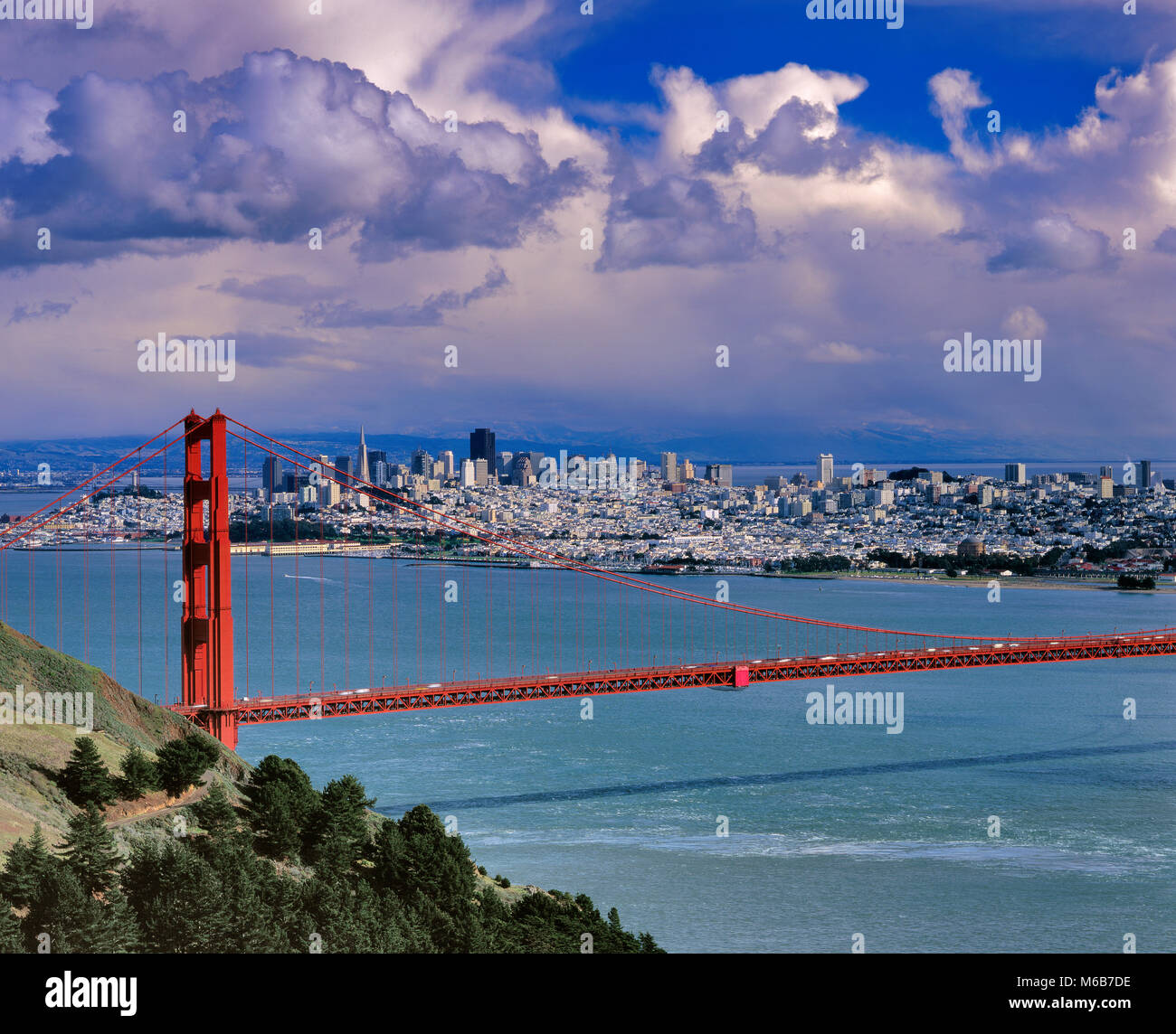 Storm Clouds, San Francisco Bay, San Francisco, California - Stock Image