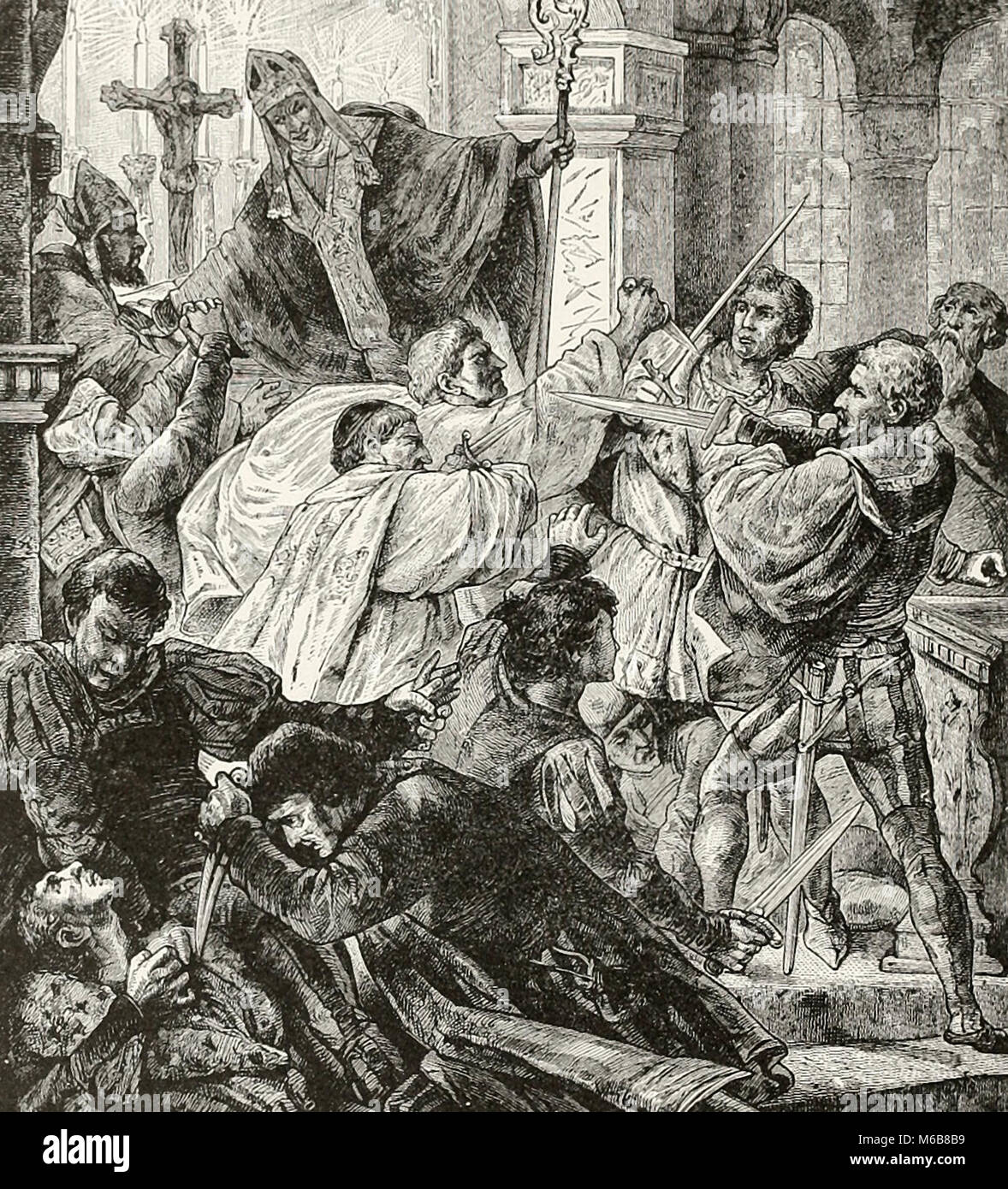 Attempted assassination of the Medici, April 26, 1478 - Stock Image