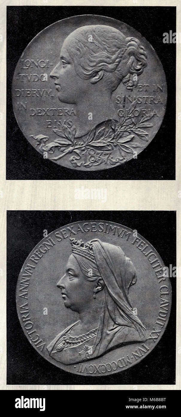 Commemorative Medal of Queen Victoria's Diamond Jubilee of 1897 - Stock Image