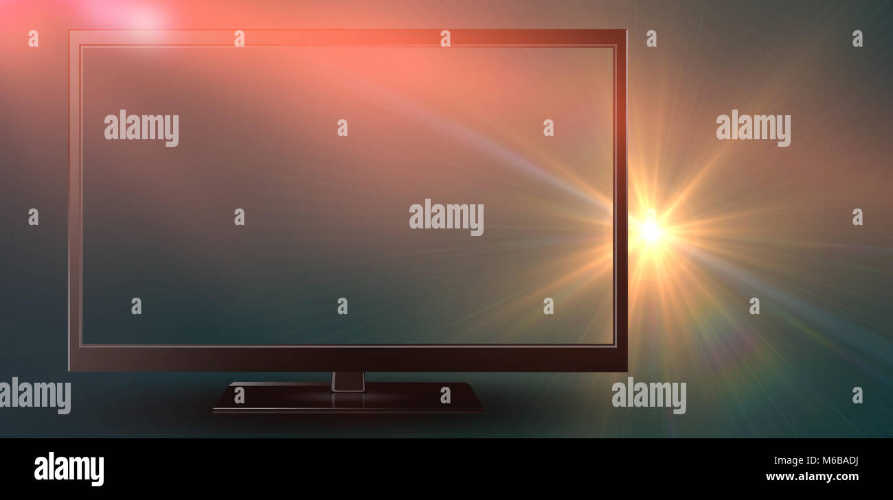 Close-up of blank computer monitor - Stock Image