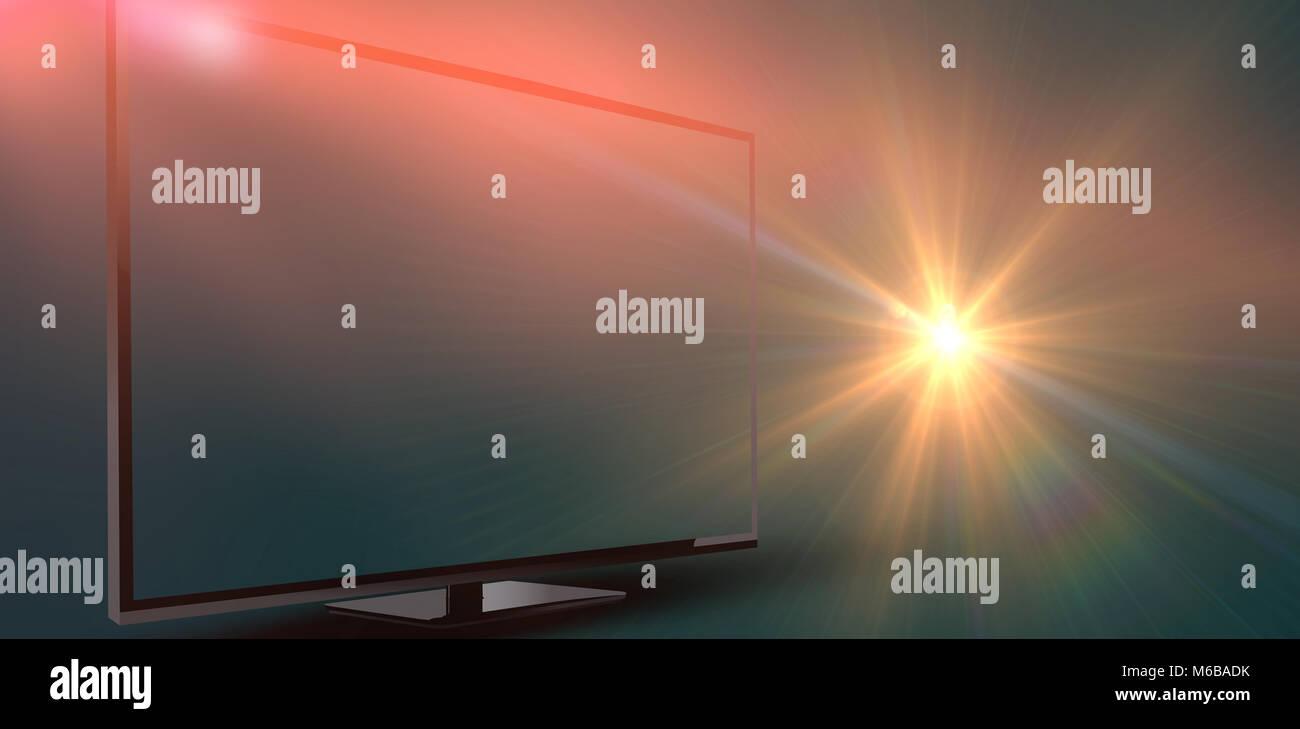 Blank computer monitor - Stock Image