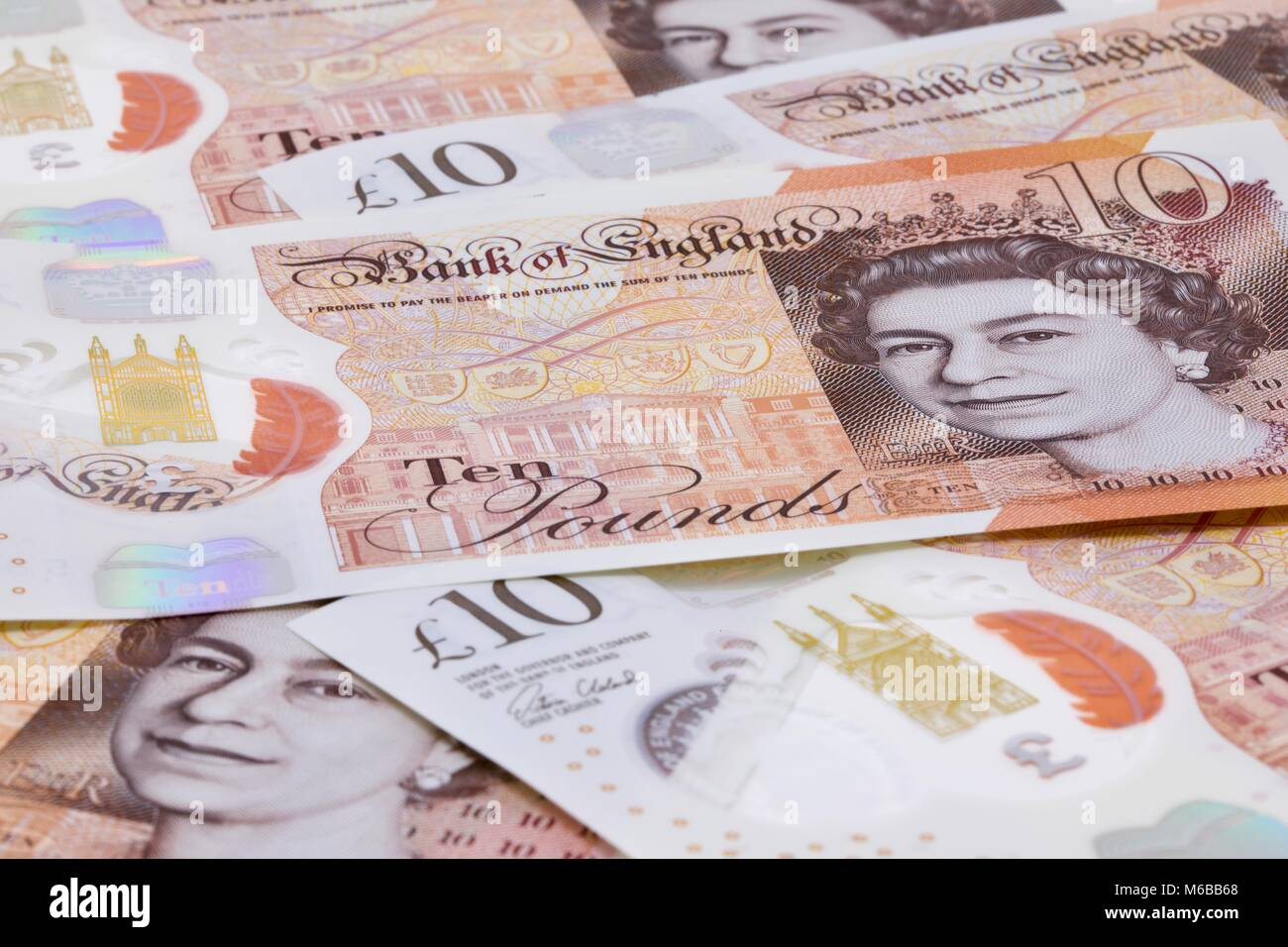 The New £10 Polymer Banknotes - Stock Image
