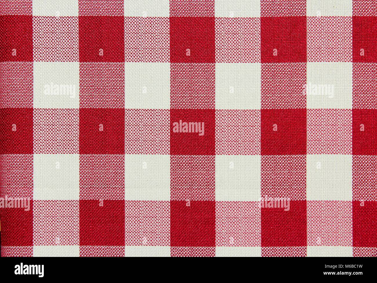 Merveilleux Red And White Checkered Table Cloth Background. Textile Pattern.   Stock  Image