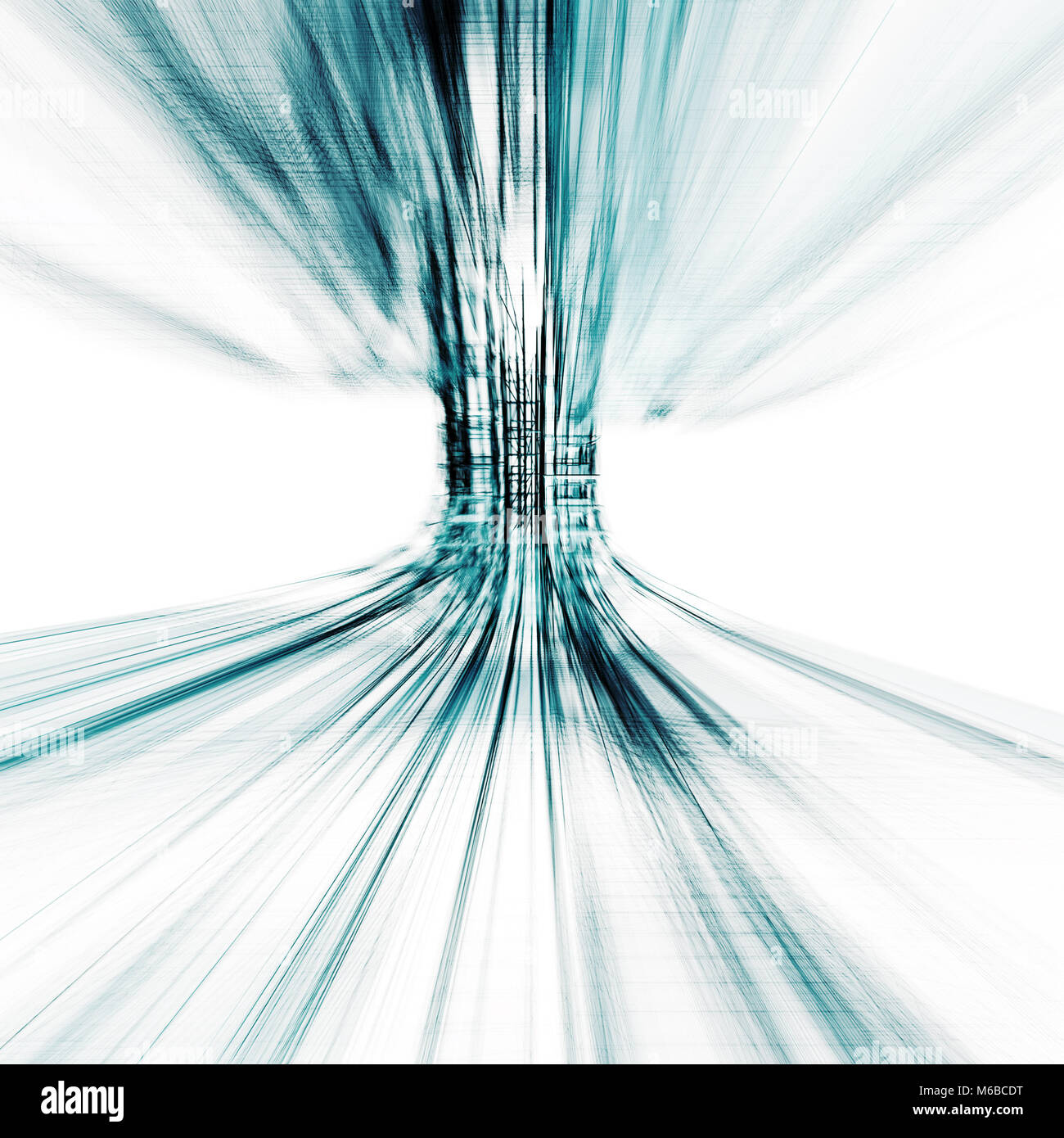Transparent abstract 3d rendering - Stock Image