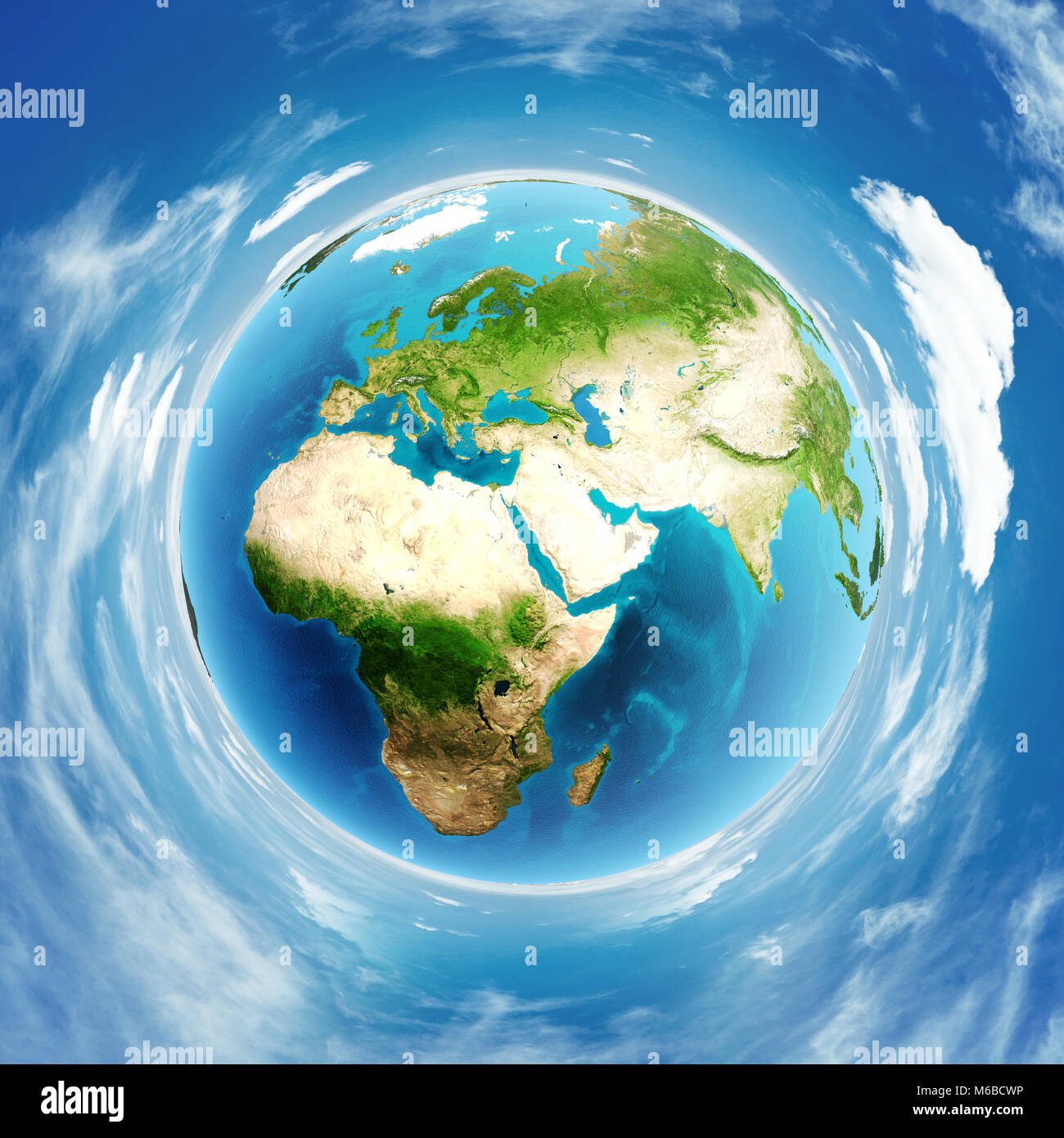 Planet Earth real relief 3d rendering - Stock Image
