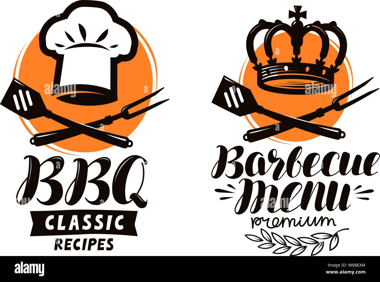 Bbq barbecue logo or label element for restaurant menu design bbq barbecue logo or label element for restaurant menu design food vector illustration forumfinder Gallery