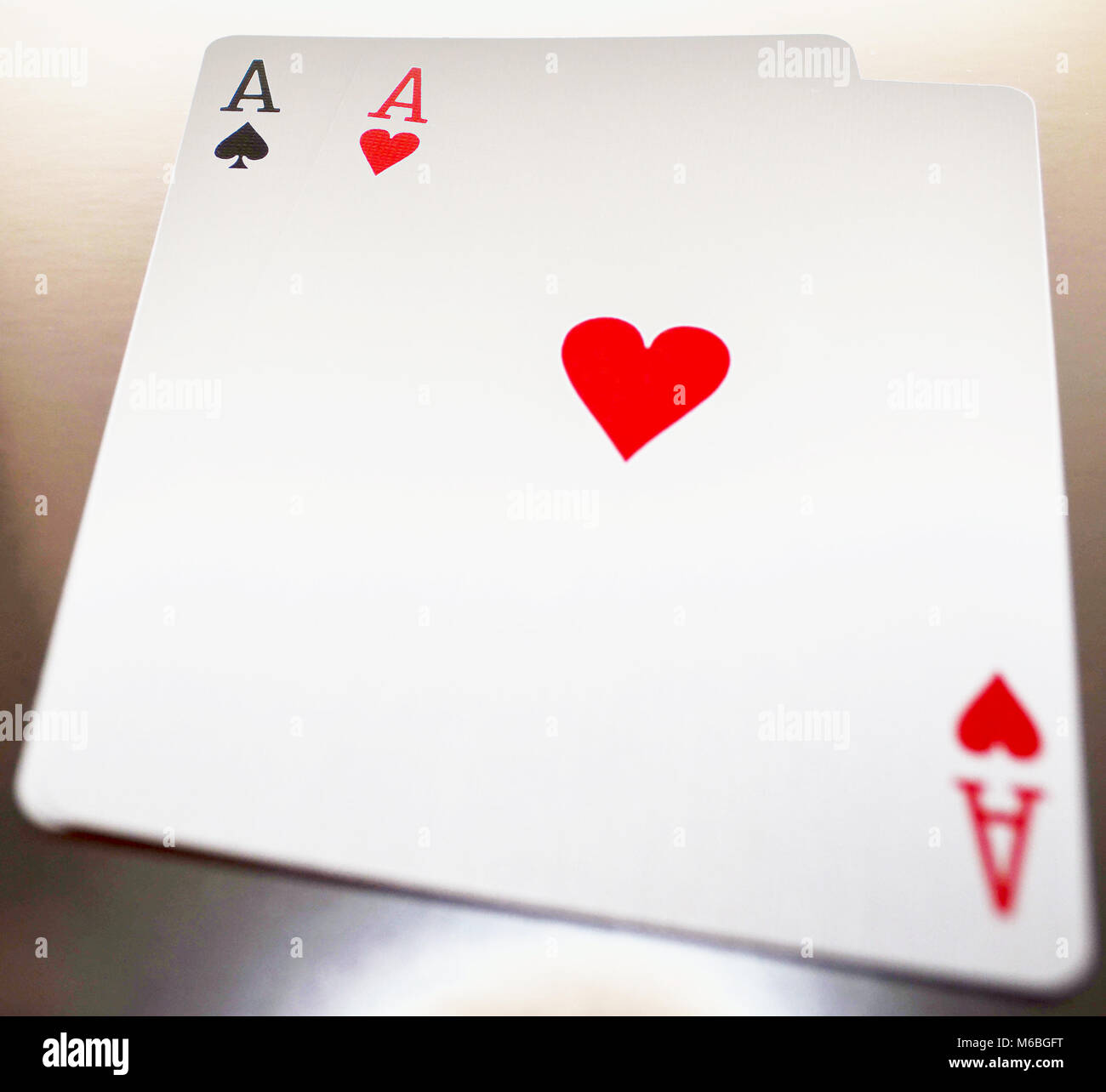 pair of aces with bokeh - Stock Image