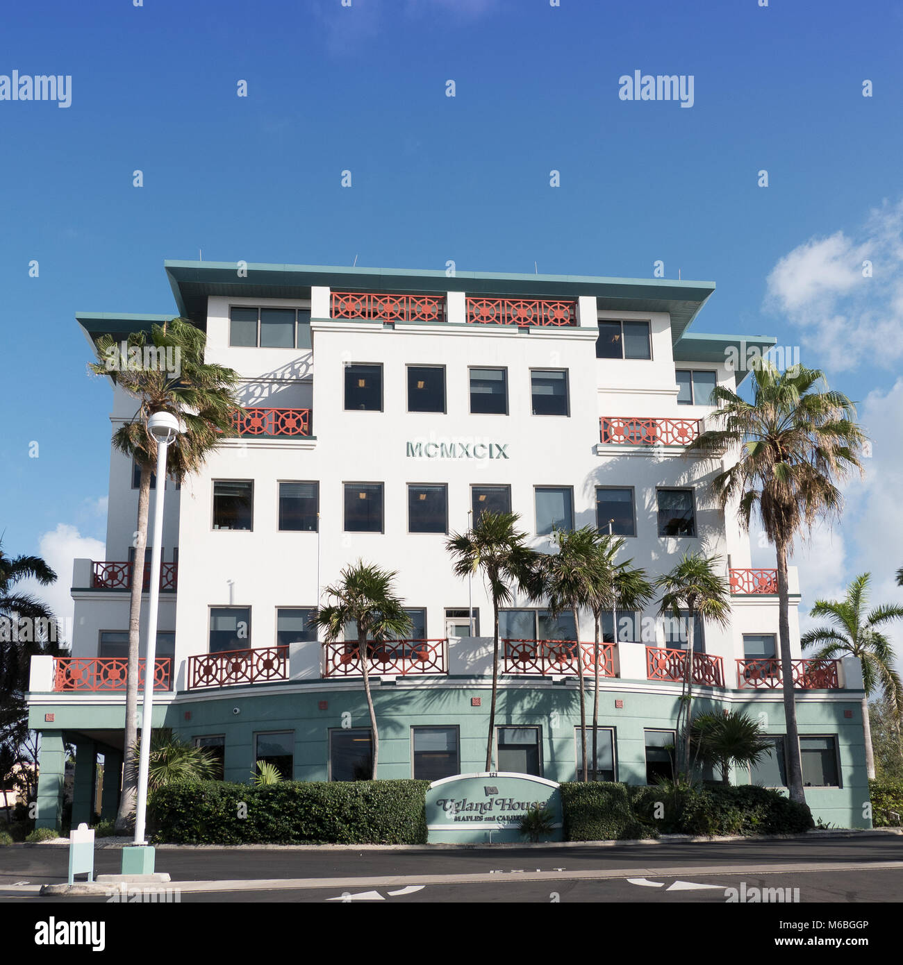 Ugland House, 121 South Church Street, George Town, Grand Cayman - Stock Image