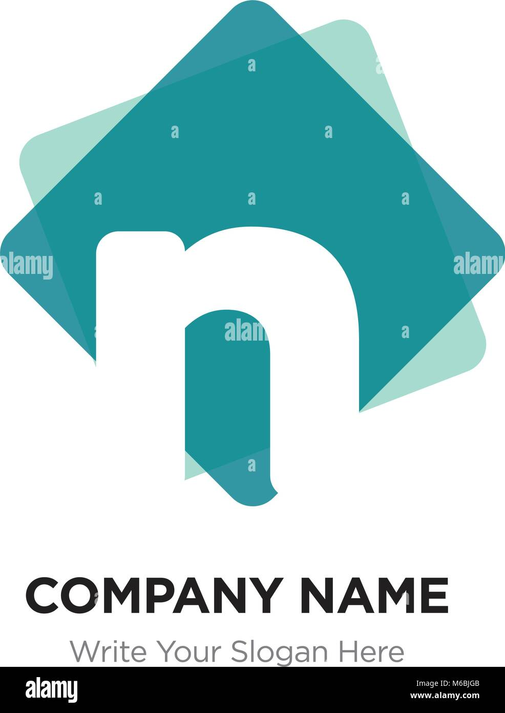 Abstract letter n logo design template white vector icon on green abstract letter n logo design template white vector icon on green background maxwellsz