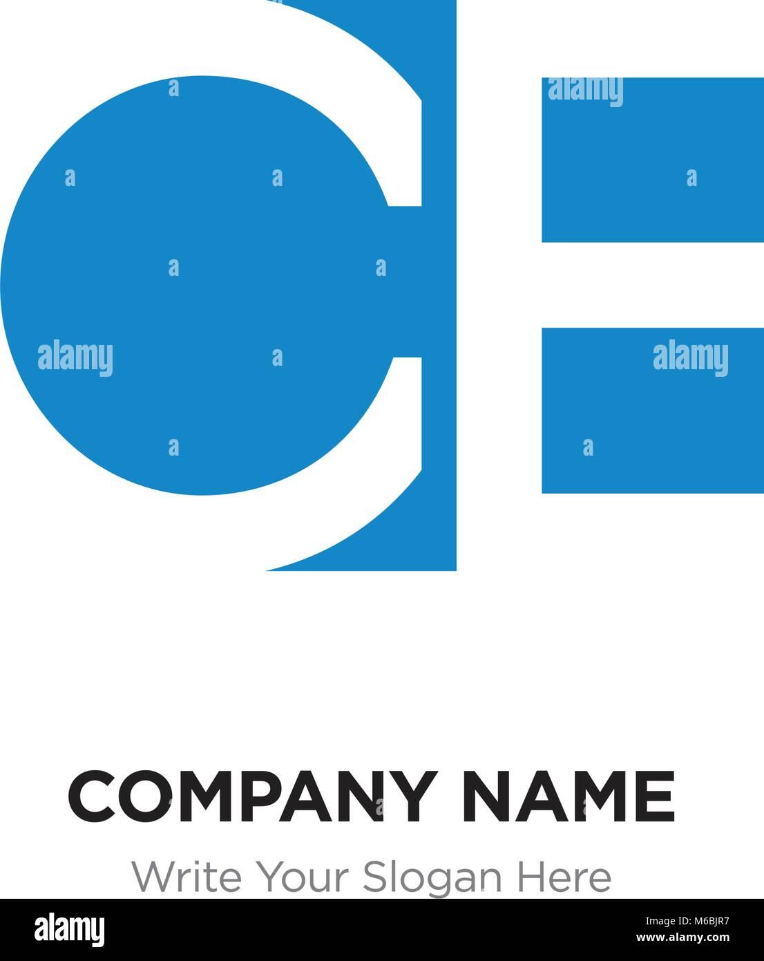 Abstract letter CB BC logo design template, Blue Alphabet