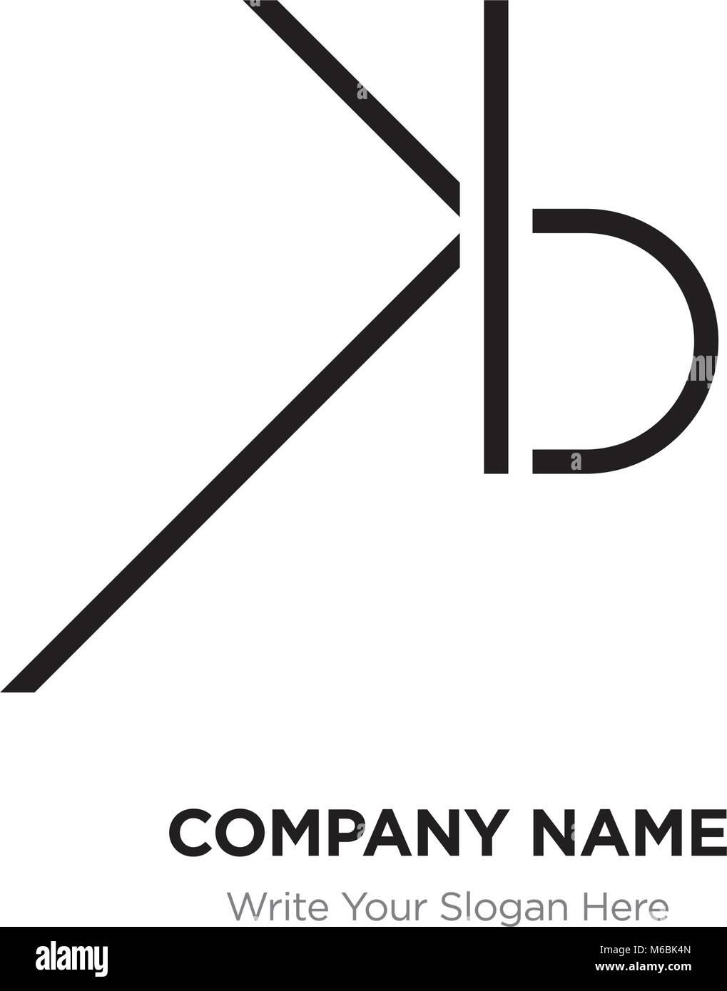 Abstract letter BL,LB logo design template, Black Alphabet