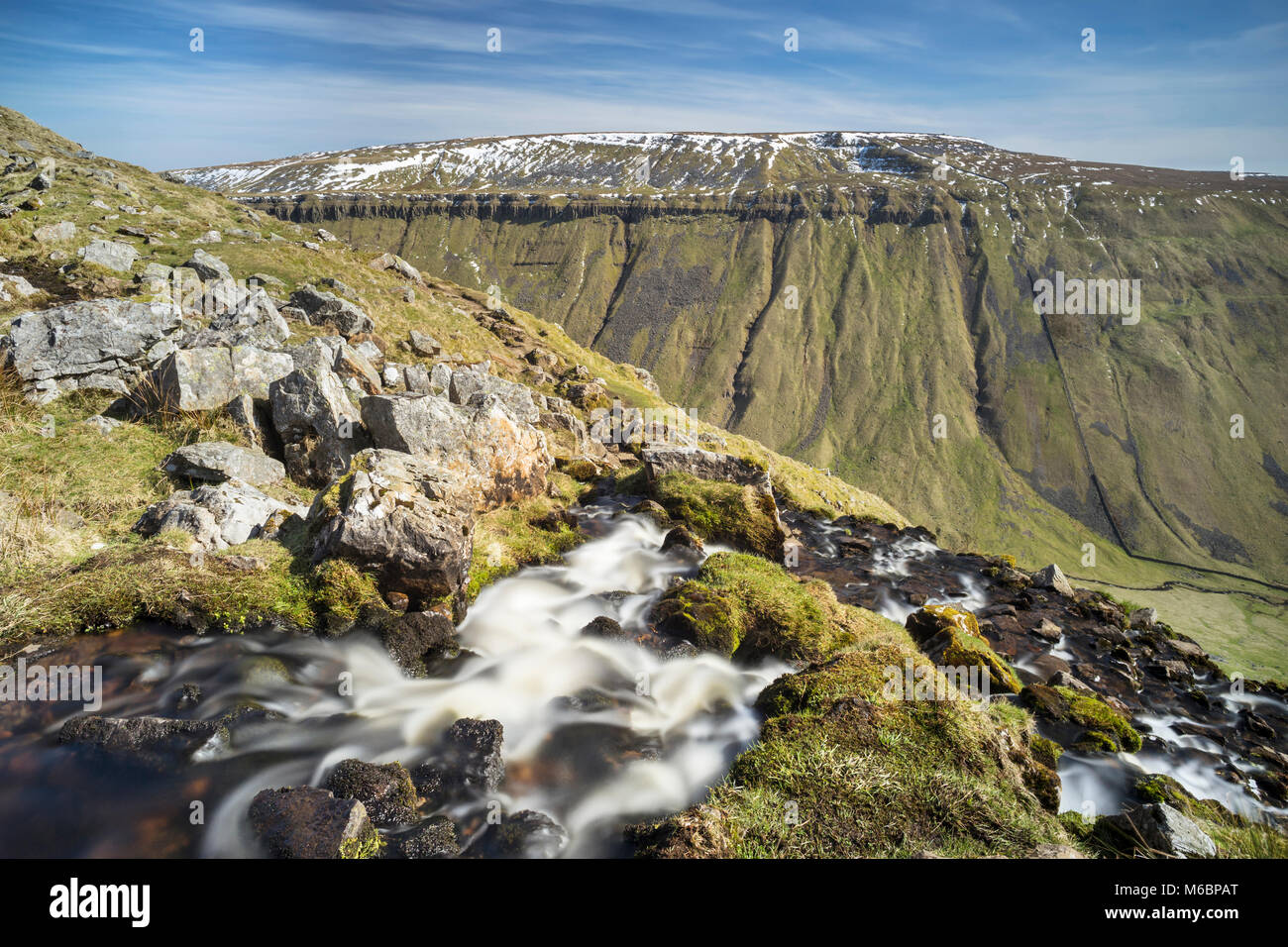 Stream running down High Cup Nick into Highcup Gill Beck, Eden Valley, Cumbria, England - Stock Image