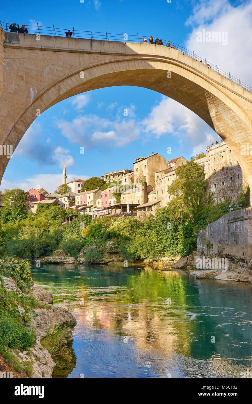 Mostar - Stari Most or Old Bridge, Bosnia and Herzegovina - Stock Image