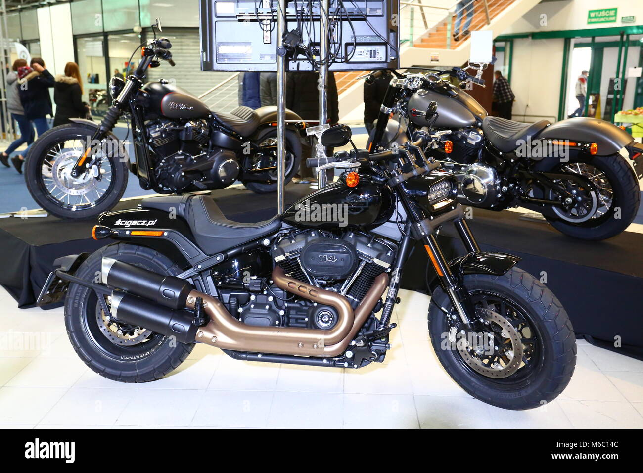 Nadarzyn, Poland. 02nd Mar, 2018. PTAK expo center opens Motorcycle Show. Credit: Madeleine Lenz/Pacific Press/Alamy - Stock Image
