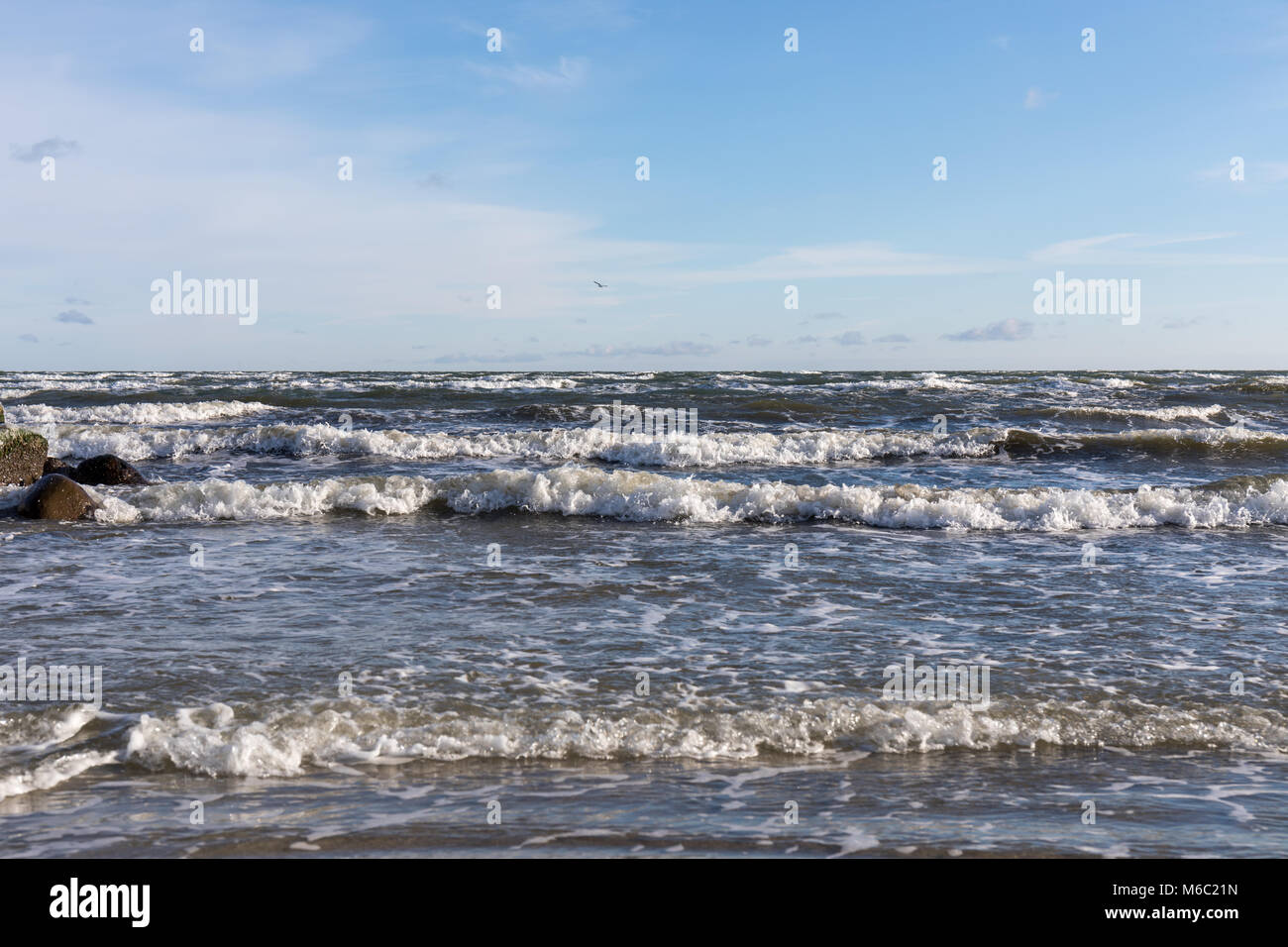 Kattegat (sea); Saeby Beach, Denmark - Stock Image