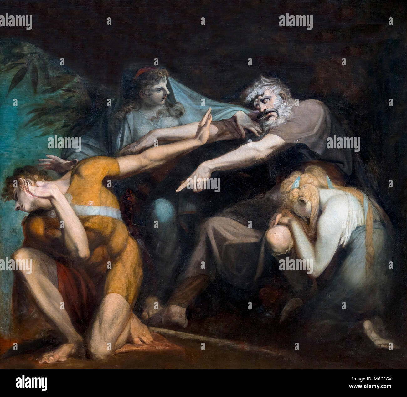 Oedipus Cursing His Son, Polynices, Henry Fuseli, 1786, National Gallery of Art, Washington DC, USA, North America - Stock Image