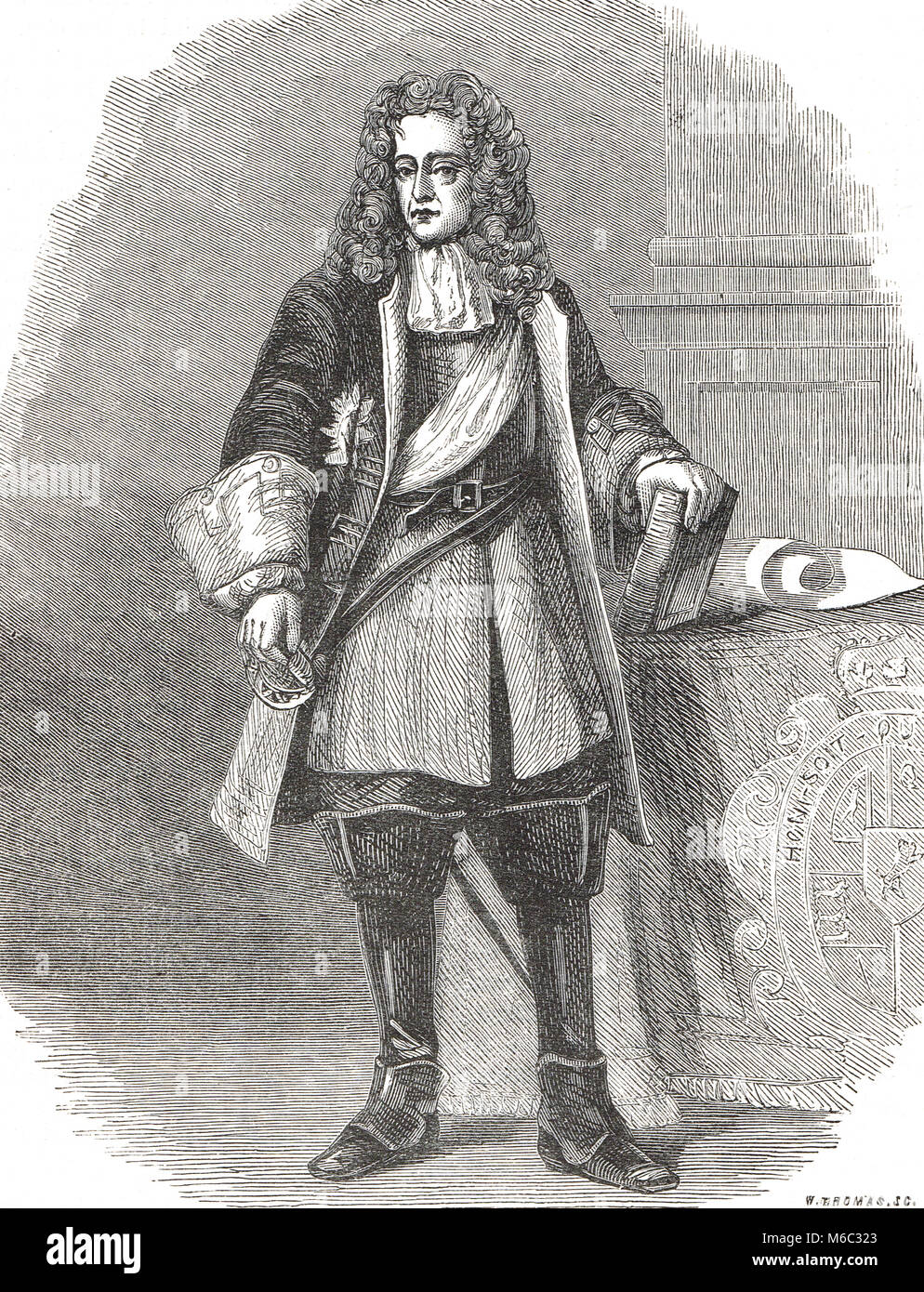 King William III of England, 1650-1702, reigned 1689-1702 - Stock Image