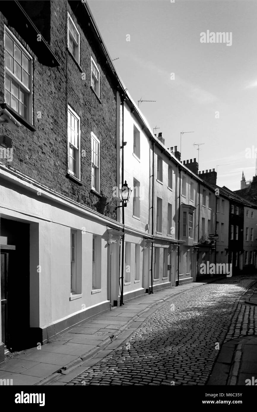 Prince street, Kingston Upon Hull old town Georgian  architecture - Stock Image