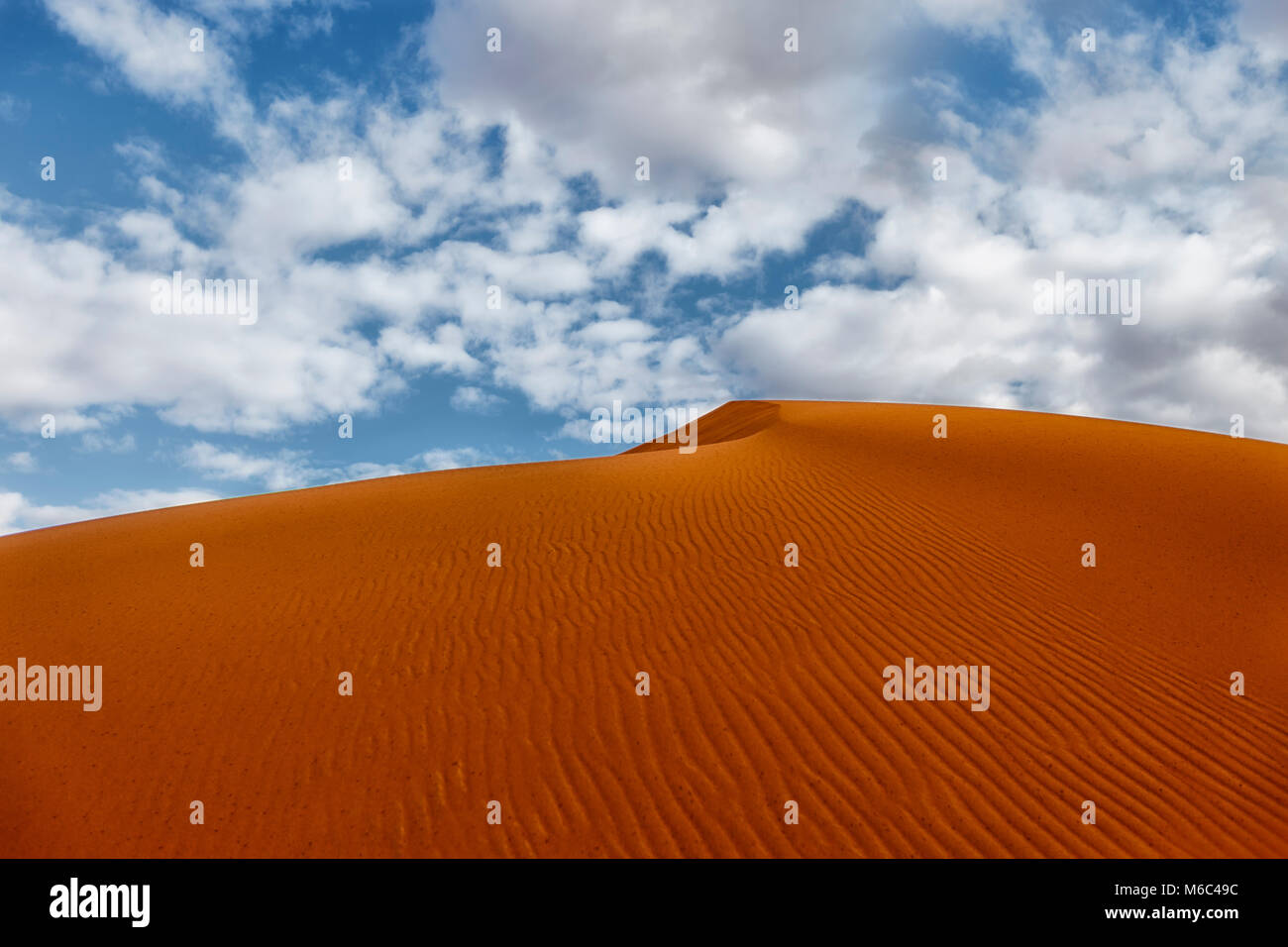 The red sand dunes of Merzouga. Morocco. - Stock Image