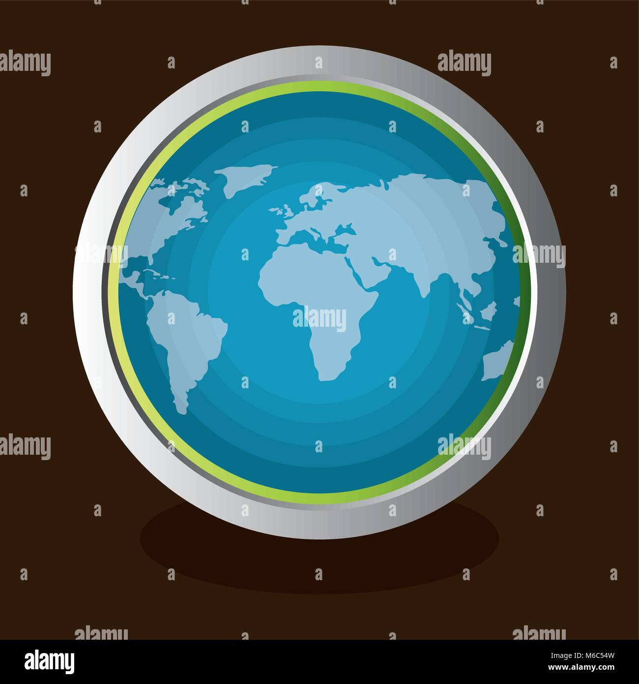 go green world planet Stock Vector