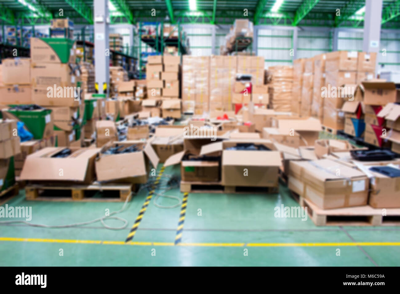 Storage Boxes On Shelves Stock Photos & Storage Boxes On Shelves
