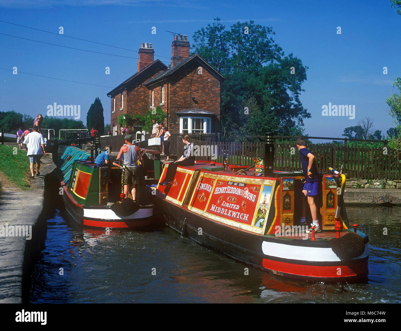 AB/M44A11/14 - Trent and Mersey Canal at Shardlow, Derbyshire - Stock Image