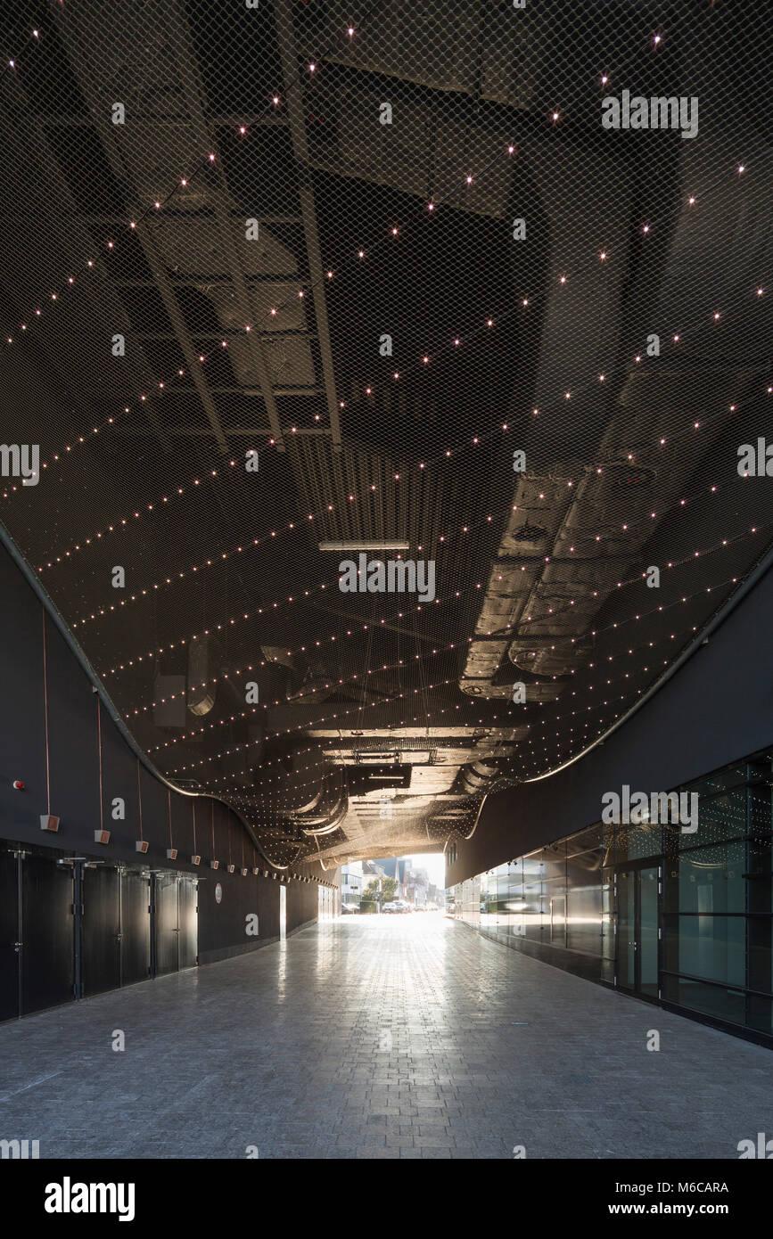 Bonn, Regierungsviertel (Bundesviertel, Parlamentsviertel), Kongresszentrum World Conference Center, Durchgang - Stock Image