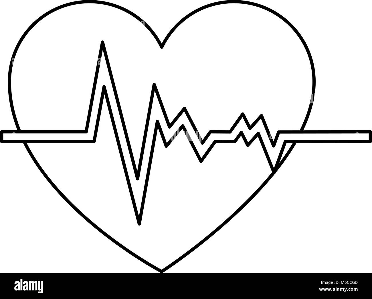 heart rate cardiogram black and white stock photos images alamy Heart Murmur EKG heart cardiology isolated icon stock image