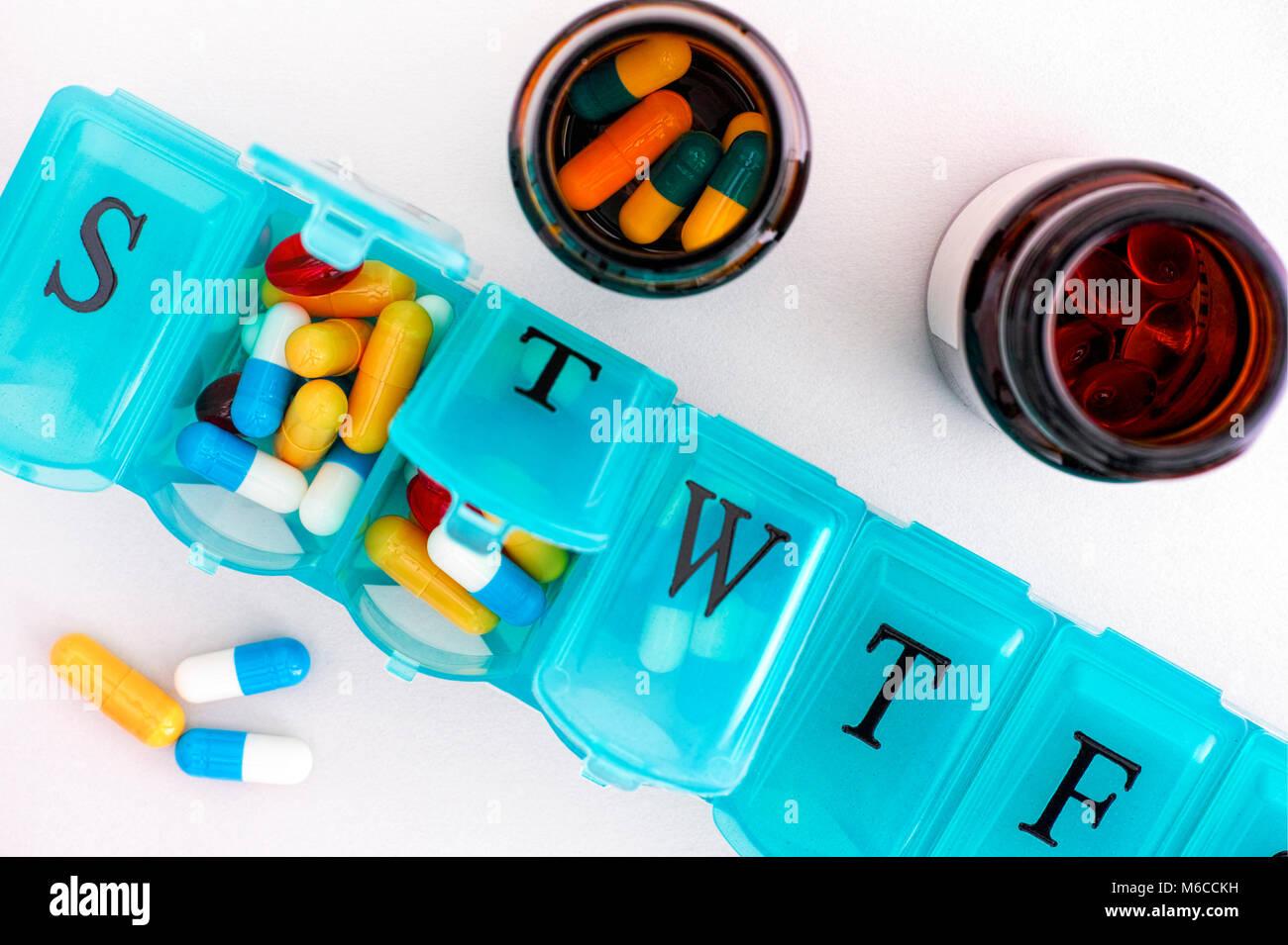 Pill Organizer Stock Photos & Pill Organizer Stock Images